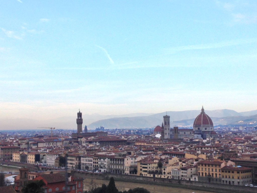View over Florence from San Miniato al Monte